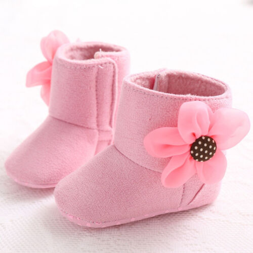 0-18 Months Baby Infant Toddler Boy Girl Crib Soft Sole Shoes Winter Snow Boots