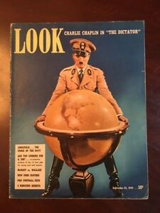 1940-Charlie-Chaplin-034-LOOK-034-Oversize-Magazine-No-Label-Scarce