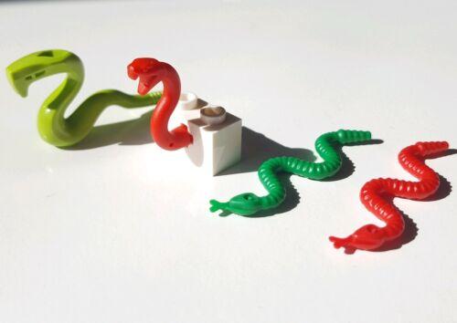 Lego serpents sélection en Rouge et Vert-mélange de Petits Animaux Terrestres