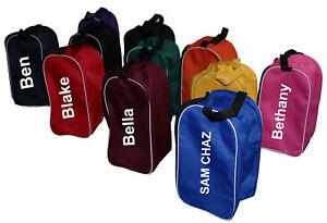 Football Shoe Bag Hockey Rugby Toiletry Sports School Gym Travel Boot Bag Black