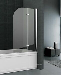 duschabtrennung badewanne duschwand badewannenfaltwand dusche esg 90 100 120 cm ebay. Black Bedroom Furniture Sets. Home Design Ideas