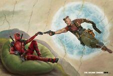 "FILM Ryan Reynolds Deadpool 2 Fabric Art Movie Poster 18x12 36x24 40x27/"""