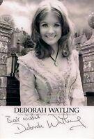 DEBORAH DEBBIE WATLING DR WHO VICTORIA SIGNED AUTOGRAPH 6 x 4 PRE PRINTED PHOTO