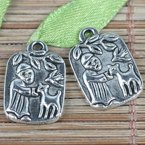 18pcs tibetan silver color angel charms EF0329