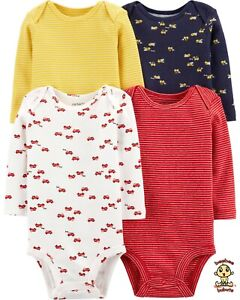 Carter's Bodysuits Long Sleeve Set 4-pack size: 6 months Authentic and Brand New