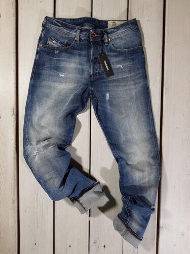 RRP $180 NEW DIESEL MEN/'S JEANS BUSTER 084DD REGULAR SLIM TAPERED BLUE