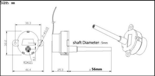 DC 6V-12V 48RPM 56mm Long shaft Worm Gear Motor Slow Speed Reduction Gearmotor