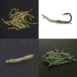 30pcs-Outdoor-Carp-Fishing-Safety-Lead-Clips-amp-Pins-Tail-Rubber-Tubes-23mm-N4U3