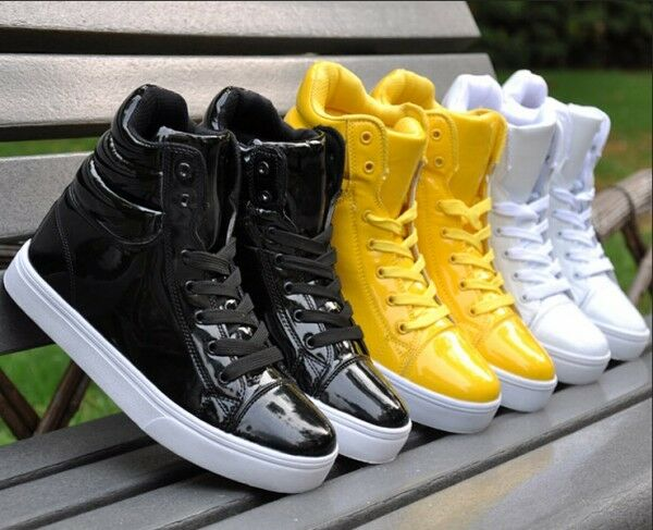 Fashion Mens Lace Up Sneakers High Top Dancing Punk Goth Hip Pop Casual shoes