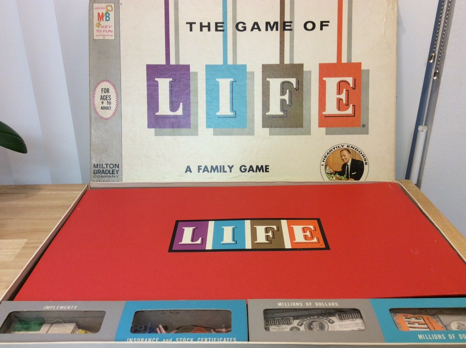 Vtg THE GAME OF LIFE Board Game, Complete, Art Linkletter 1960 MID-CENTURY EXCLT