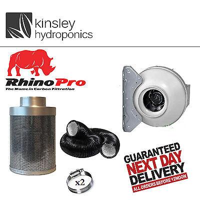 4 5 6 8 10 12 Inch CarboAir Carbon Filter RVK Fan Kit Foil Ducting Hydroponics