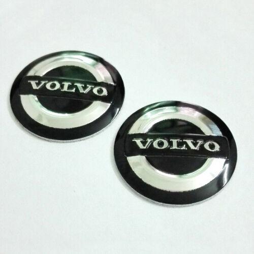 2 X 14mm Volvo reemplazo Llavero insignia de la etiqueta engomada