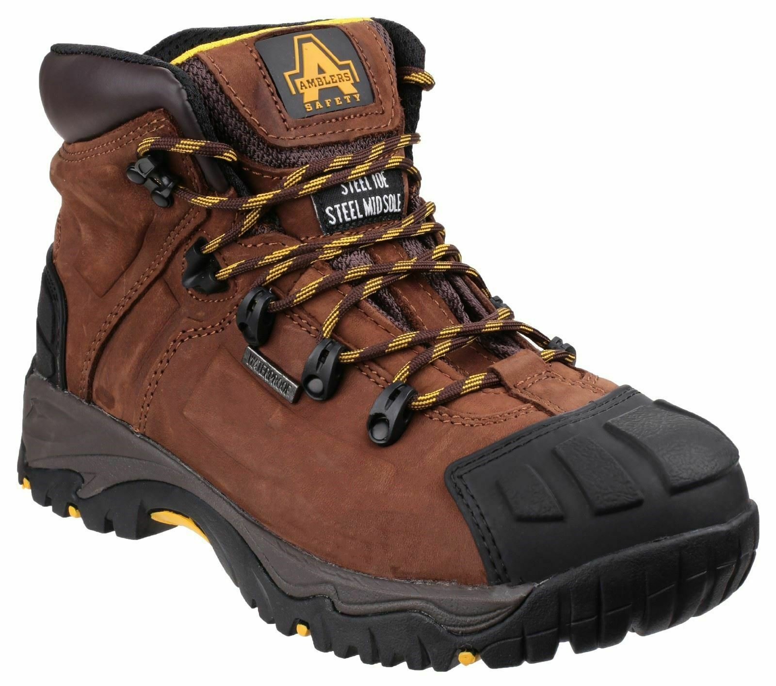 Amblers Safety: Brown FS39 Waterproof Lace up Safety Boot- Various Sizes