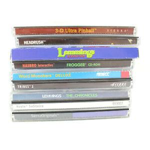 LOT-of-9-CD-ROM-Games-Mostly-Sierra-Lemmings-Frogger-Pinball-Headrush
