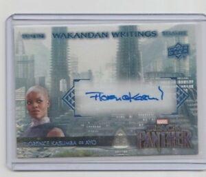 Marvel-Black-Panther-Autograph-Trading-Card-WW-YO-Florence-Kasumba-as-Ayo-B