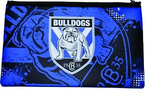 Bulldogs Nrl Large Neoprene Team Logo Pencil Case New
