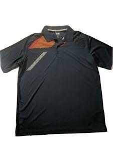 Adidas-Climacool-Men-039-s-XL-Golf-Polo-Shirt-Blue-Short-Sleeve-Polyester