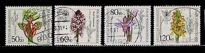 Dynamisch Bundesrepublik Deutschland 1225-1228 Gestempelt Orchideen