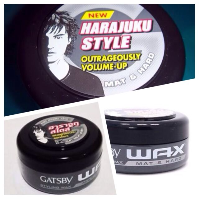X5 75g Grey Jar Gatsby Styling Hair Wax  Mat & Hard Japan