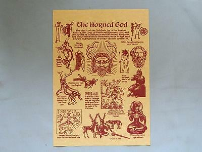NEW Pagan Poster/HORNED GOD/A4/Wicca/Pagan/Witch/Altar