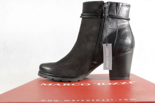 Noir 25454 Neuf Bottes Marco Bottines Cuir Tozzi ZnwUWqpt