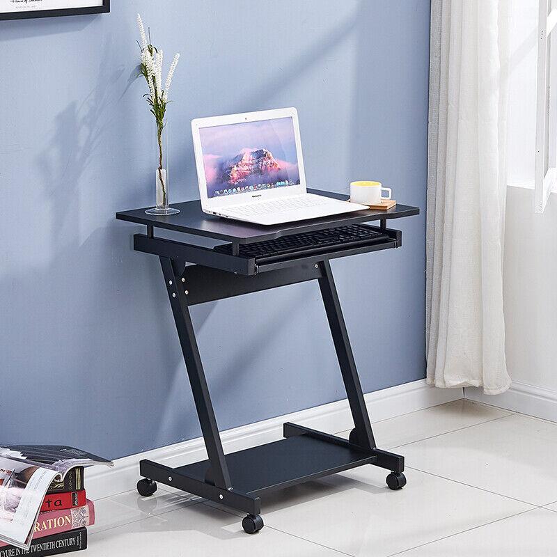 Black Computer Desk Pc Table Study Home Office Work Station Furniture Z Shape Uk For Sale Online Ebay