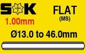 1.5 mm-épais 24.0mm-41.5mm Plat Minéral Montre Cristal En Verre Ronde