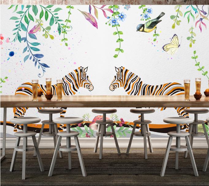 3D Zebras Blaumen Vögel 74 Tapete Wandgemälde Tapete Tapeten Tapeten Tapeten Bild Familie DE  | Moderner Modus  | Kaufen Sie beruhigt und glücklich spielen  | Zu einem niedrigeren Preis  103efa
