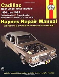 haynes cadillac deville de ville 70 93 owners repair service rh ebay co uk service manual 2001 cadillac deville 2004 Cadillac Deville