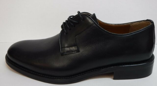 Kenneth Cole New York Size 11.5 Made in Italy Black Leather Oxford  Mens Shoes