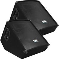 Pair Of Powered 2-way 12 Floor / Stage Monitors Wedge - Active 12 Monitors on sale