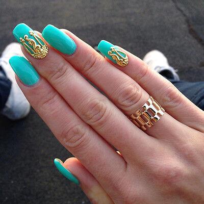New 10pcs 3D Hollow Nail Art Alloy Decoration Jewelry Glitter Rhinestone TN218