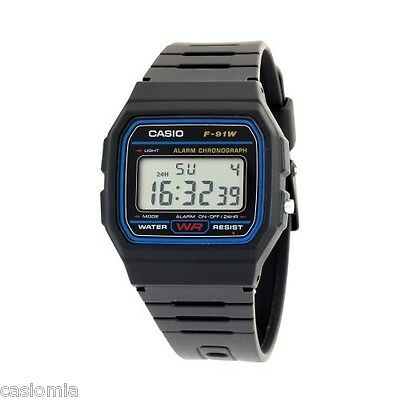Casio F91W-1 Classic Digital Sports Watch Alarm Chronograph 30M Water Resistant