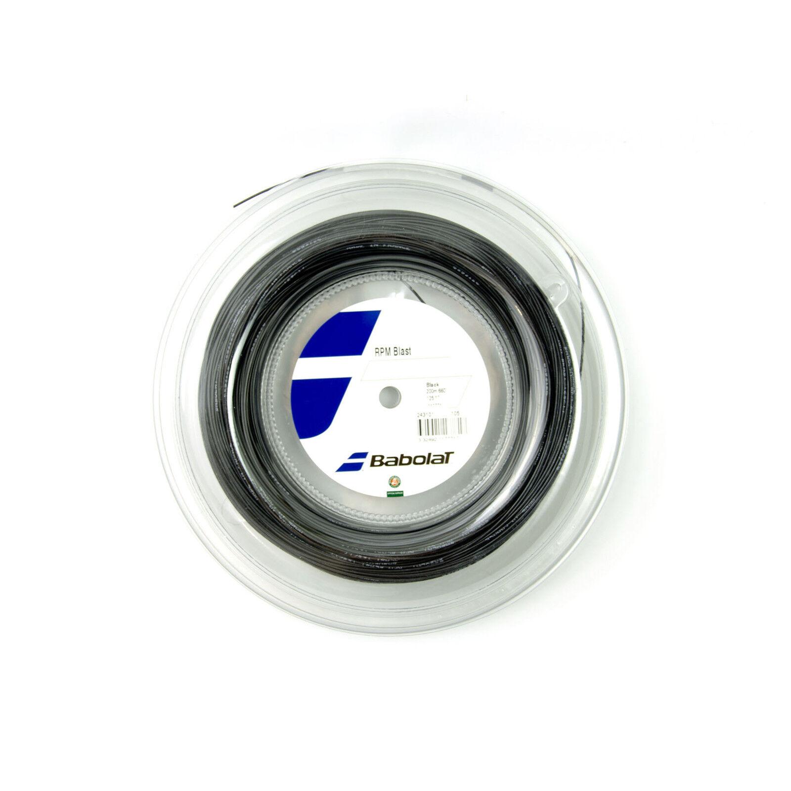 NEUBabolat RPM Blast Saitenrolle 1.25mm Tennis 200m schwarz 17 string string string reel new f33b86