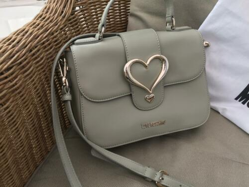 Strap Leather Love Grey Moschino BagHandbag Faux Crossbody Buckle Heart EH2IW9beYD