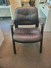 Waiting Room Ergonomic Conference Chair Office Guest Chair Leather With Armrest