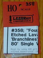 American Model Builders, Inc HO #358 Lavatory Windows for Branchline Trains Sing