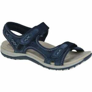 f72629f4a39d Image is loading Womens-shoe-Earth-Spirit-Frisco-Navy-blue-30233