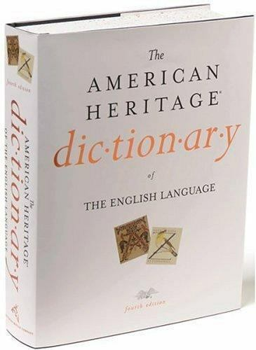 The American Heritage Dictionary of the English Language