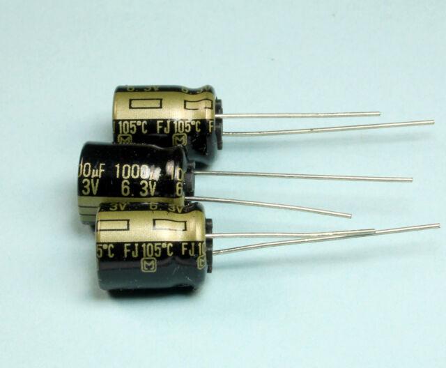 Panasonic low ESR condensador eeufc 1a102 1000uf10v 10x16mm rm5 68mr #bp 2 PCs