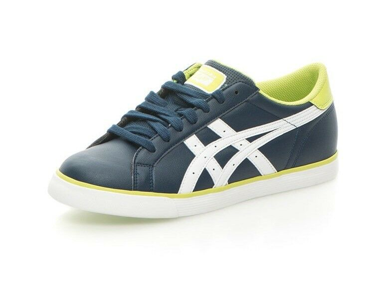 Mens Asics Onitsuka Tiger Court Tempo Navy White Green Lace Up Casual Trainers Seasonal clearance sale