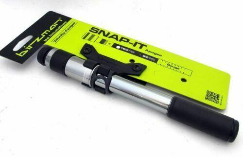 Birzman Velocity Apogee RG RB Aluminum mini pump w// Gauge Snap it 160psi Silver