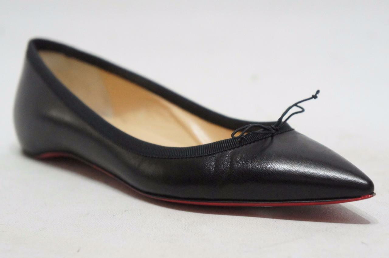 CHRISTIAN LOUBOUTIN SOLASOFIA POINTY TOE FLAT SHOES 35.5 5