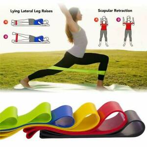 Set-of-5-Resistance-Exercise-Loop-Bands-Home-Gym-Fitness-Premium-Natural-Latex