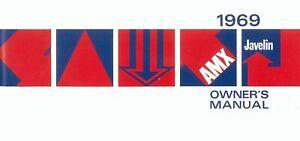 Bishko OEM Maintenance Owner's Manual Bound for Amc Amx, Javelin 1969