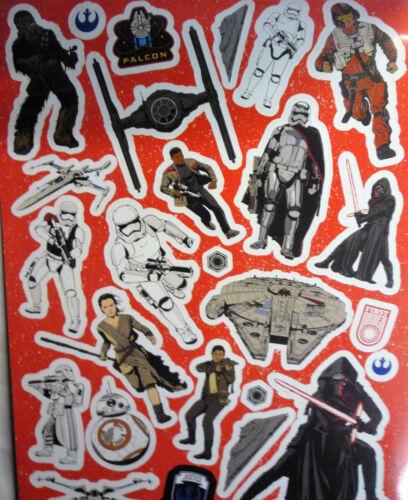 completa 7 Color Hojas /& 26 calcomanías Star Wars The Force despierta A4 Sticker Pad