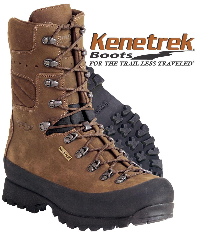 Hombres kenetrek Mountain botas impermeables, excursión de caza sin aislamiento.