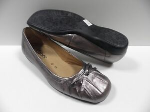 Chaussures-GABOR-argent-FEMME-taille-35-5-cuir-mocassins-shoes-NEUF-618-98