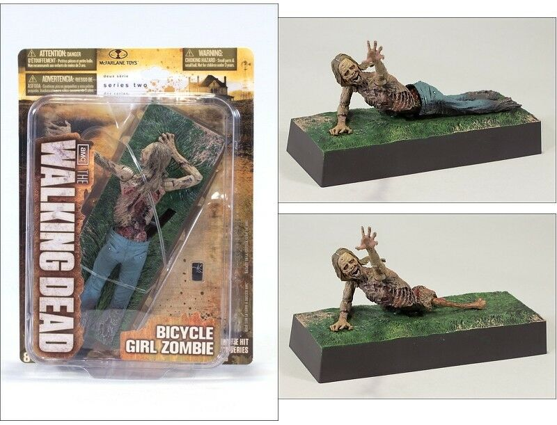 Bicycle Girl Zombie (ULTRA RARE )Figure The Walking Dead TV series 2 Mcfarlane