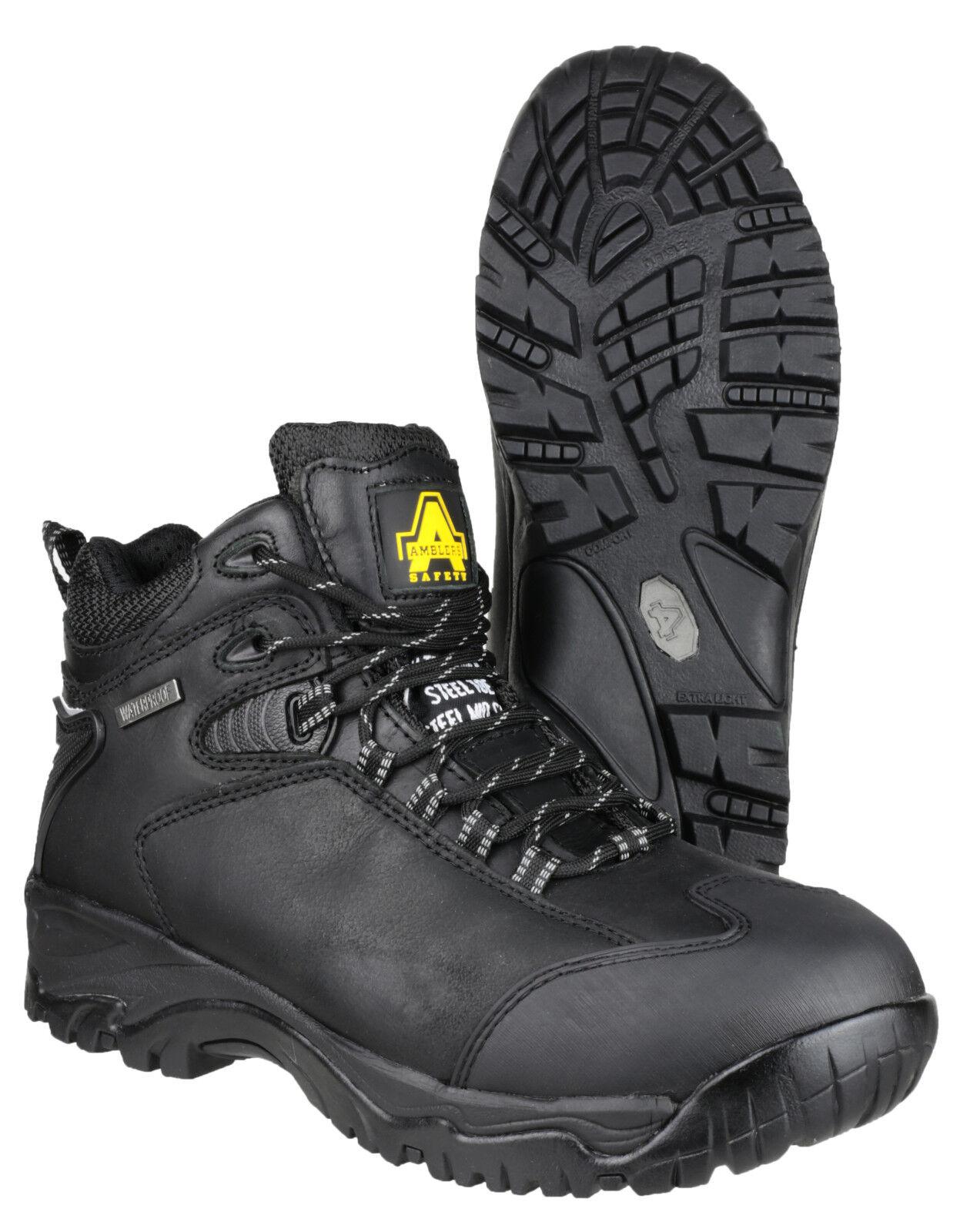 Amblers FS190 Impermeable Puntera De Acero Para Hombre Seguridad botas Senderismo Caminar UK6-15
